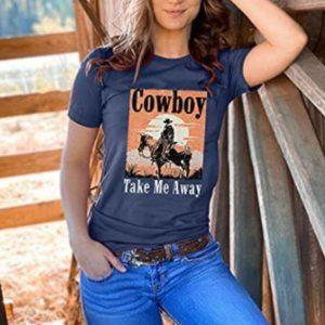 Cowboy Take Me Away Western Graphic Tee
